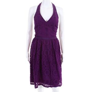 NWT Maggy London Purple Cocktail Dress Size 10